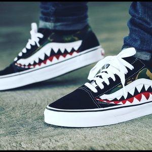 2162418782edc7 Men s Bape Custom Shoes on Poshmark
